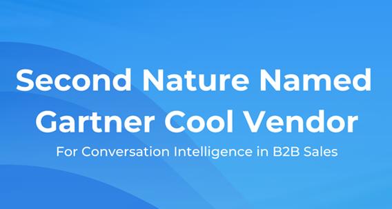 2021 Gartner Cool Vendor Award for Conversation Intelligence for B2B Sales